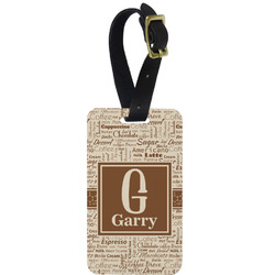 Coffee Lover Aluminum Luggage Tag (Personalized)