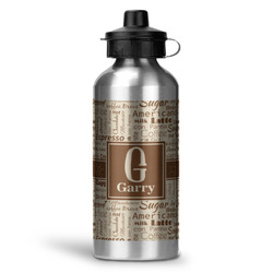 Coffee Lover Water Bottle - Aluminum - 20 oz (Personalized)