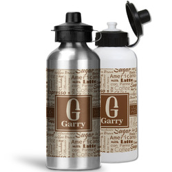 Coffee Lover Water Bottles- Aluminum (Personalized)
