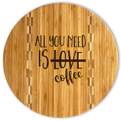 Coffee Lover Bamboo Cutting Board (Personalized)