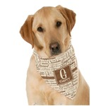 Coffee Lover Dog Bandana Scarf w/ Name and Initial