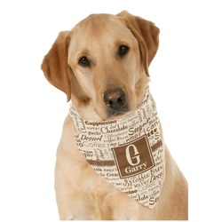 Coffee Lover Pet Bandanas (Personalized)