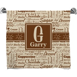 Coffee Lover Full Print Bath Towel (Personalized)