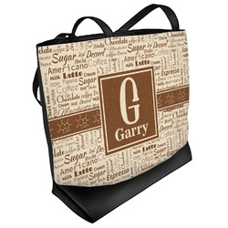 Coffee Lover Beach Tote Bag (Personalized)