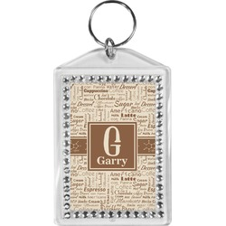 Coffee Lover Bling Keychain (Personalized)