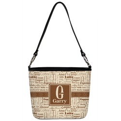 Coffee Lover Bucket Bag w/ Genuine Leather Trim (Personalized)