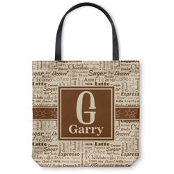 Coffee Lover Canvas Tote Bag (Personalized)
