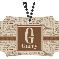 Coffee Lover Rear View Mirror Ornament (Personalized)
