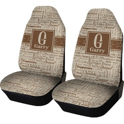 Coffee Lover Car Seat Covers (Set of Two) (Personalized)