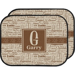 Coffee Lover Car Floor Mats (Back Seat) (Personalized)