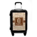 Coffee Lover Carry On Hard Shell Suitcase (Personalized)