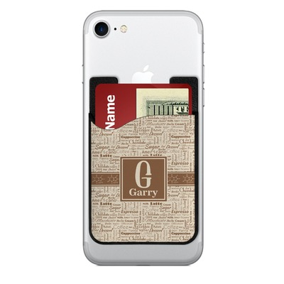 Coffee Lover 2-in-1 Cell Phone Credit Card Holder & Screen Cleaner (Personalized)
