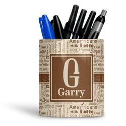 Coffee Lover Ceramic Pen Holder