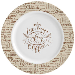 Coffee Lover Ceramic Dinner Plates (Set of 4) (Personalized)