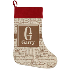 Coffee Lover Holiday / Christmas Stocking (Personalized)