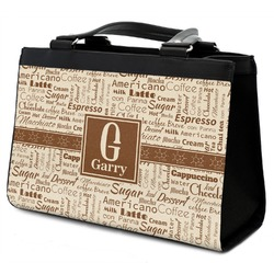 Coffee Lover Classic Tote Purse w/ Leather Trim (Personalized)