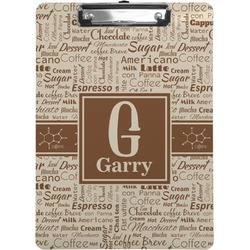 Coffee Lover Clipboard (Personalized)