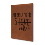 Coffee Lover Leatherette Journal (Personalized)