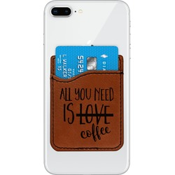 Coffee Lover Leatherette Phone Wallet (Personalized)