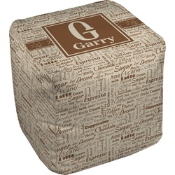 Coffee Lover Cube Pouf Ottoman (Personalized)