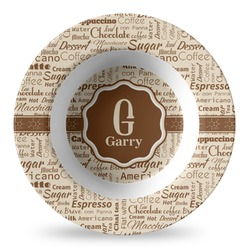 Coffee Lover Plastic Bowl - Microwave Safe - Composite Polymer (Personalized)