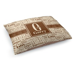 Coffee Lover Dog Pillow Bed (Personalized)