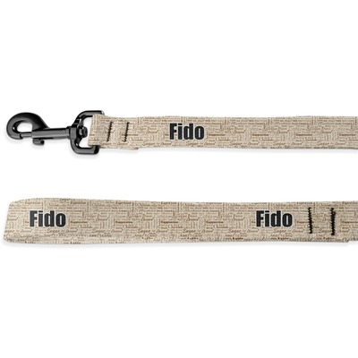 Coffee Lover Deluxe Dog Leash (Personalized)