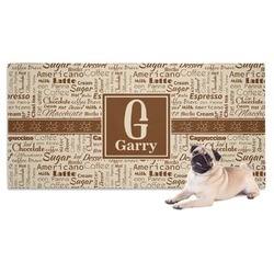Coffee Lover Pet Towel (Personalized)