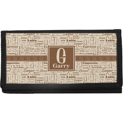 Coffee Lover Canvas Checkbook Cover (Personalized)