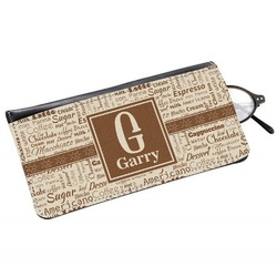Coffee Lover Genuine Leather Eyeglass Case (Personalized)