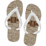 Coffee Lover Flip Flops (Personalized)