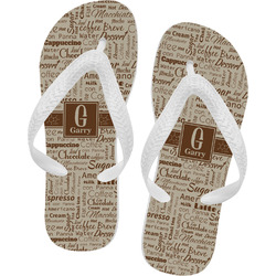 Coffee Lover Flip Flops (Personalized)