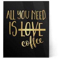 Coffee Lover 8x10 Foil Wall Art - Black (Personalized)