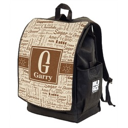 Coffee Lover Backpack w/ Front Flap  (Personalized)