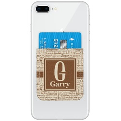 Coffee Lover Genuine Leather Adhesive Phone Wallet (Personalized)