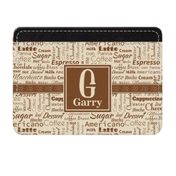 Coffee Lover Genuine Leather Front Pocket Wallet (Personalized)