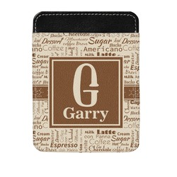 Coffee Lover Genuine Leather Money Clip (Personalized)