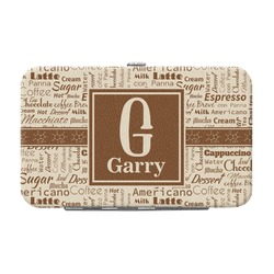 Coffee Lover Genuine Leather Small Framed Wallet (Personalized)