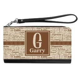 Coffee Lover Genuine Leather Smartphone Wrist Wallet (Personalized)