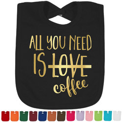 Coffee Lover Foil Baby Bibs (Select Foil Color) (Personalized)