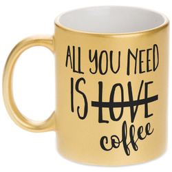 Coffee Lover Gold Mug