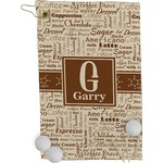 Coffee Lover Golf Towel - Full Print (Personalized)