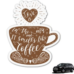 Coffee Lover Graphic Car Decal (Personalized)