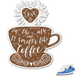 "Coffee Lover Graphic Iron On Transfer - Up to 9""x9"" (Personalized)"