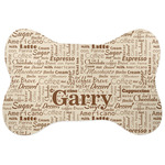Coffee Lover Bone Shaped Dog Food Mat (Personalized)