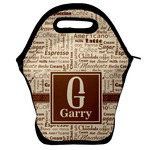 Coffee Lover Lunch Bag w/ Name and Initial