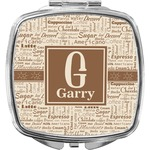 Coffee Lover Compact Makeup Mirror (Personalized)