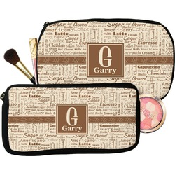 Coffee Lover Makeup / Cosmetic Bag (Personalized)