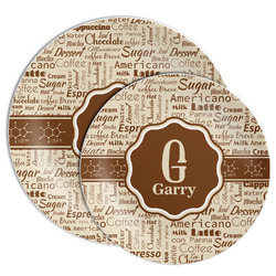 Coffee Lover Melamine Plate (Personalized)