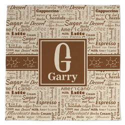 Coffee Lover Large Microfiber Dish Rag (Personalized)